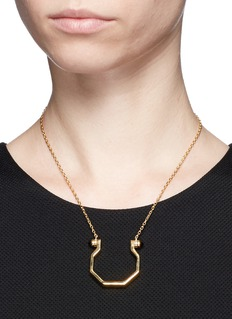 W.Britt 'Mini Hex' onyx stud pendant necklace