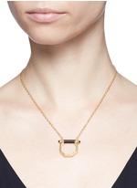 Onyx bar octagon pendant necklace