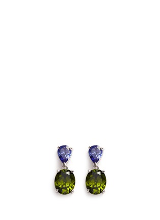 Main View - Click To Enlarge - CZ by Kenneth Jay Lane - Contrast cubic zirconia stud earrings