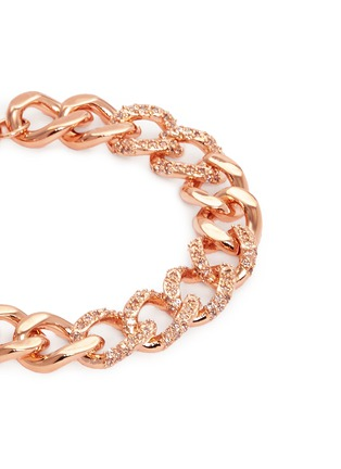 CZ by Kenneth Jay Lane - Cubic zirconia pavé curb chain bracelet
