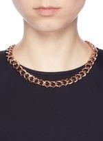 Cubic zirconia pavé curb chain necklace