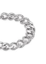 Cubic zirconia pavé curb chain bracelet