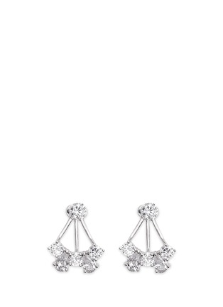 Main View - Click To Enlarge - CZ by Kenneth Jay Lane - Cubic zirconia jacket earrings