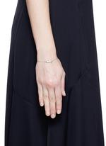'Pinecone' tsavorite charm 18k white gold bracelet