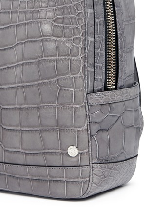 Detail View - Click To Enlarge - Stalvey - 'Brighton' medium alligator leather backpack