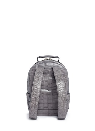 Back View - Click To Enlarge - Stalvey - 'Brighton' medium alligator leather backpack