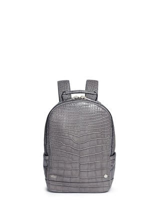 Main View - Click To Enlarge - Stalvey - 'Brighton' medium alligator leather backpack
