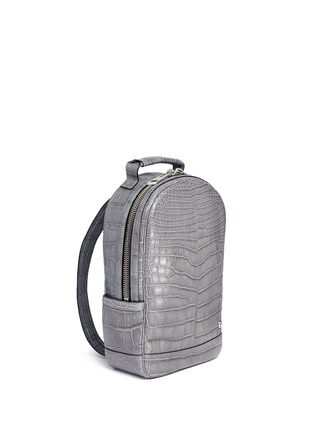 Figure View - Click To Enlarge - Stalvey - 'Brighton' medium alligator leather backpack