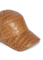 Alligator leather baseball cap