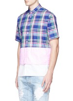 Mixed layer patchwork shirt