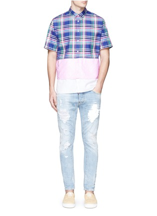 Figure View - Click To Enlarge - Dsquared2 - Mixed layer patchwork shirt
