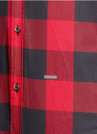 Detail View - Click To Enlarge - Dsquared2 - Check plaid cotton shirt