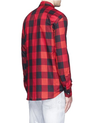 Back View - Click To Enlarge - Dsquared2 - Check plaid cotton shirt