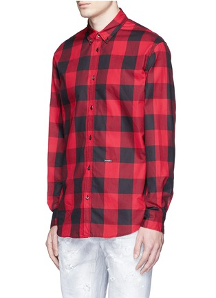 Front View - Click To Enlarge - Dsquared2 - Check plaid cotton shirt