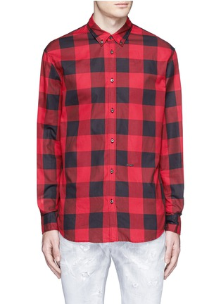 Main View - Click To Enlarge - Dsquared2 - Check plaid cotton shirt