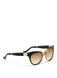 THE ROW x Linda Farrow leather temple gradient sunglasses