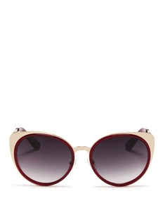 MATTHEW WILLIAMSONx Linda Farrow acetate border steel sunglasses