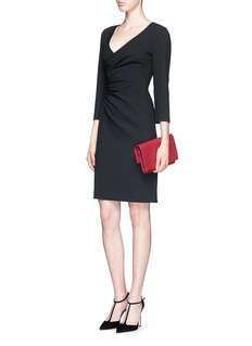 DIANE VON FURSTENBERG 'Eliana' ruche crepe sheath dress