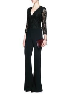 DIANE VON FURSTENBERG'Bria' floral guipure lace cardigan