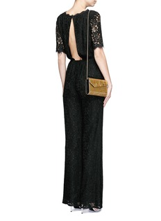 DIANE VON FURSTENBERG'Kendra' guipure lace jumpsuit