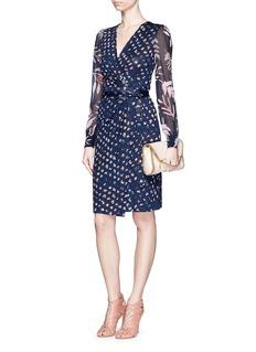 DIANE VON FURSTENBERG'Sigourney Two' daisy print silk combo wrap dress