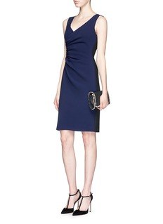 DIANE VON FURSTENBERG 'Eliana' ruche panel crepe sheath dress