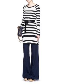 DIANE VON FURSTENBERGPoster stripe silk blend knit dress
