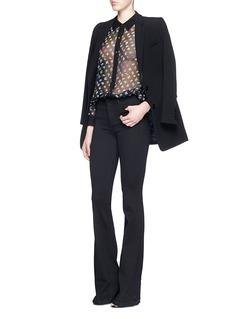 DIANE VON FURSTENBERG'Mariah' daisy bud print combo silk shirt