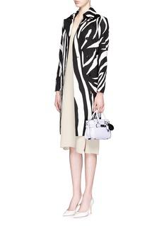 DIANE VON FURSTENBERG'Libby' zebra print wool-silk trench coat