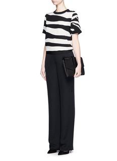 DIANE VON FURSTENBERG'Dayle' zebra print silk T-shirt