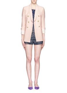 DIANE VON FURSTENBERG'Fausta' stripe tweed shorts