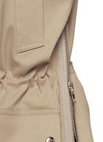 Side zip cotton-blend drawstring parka