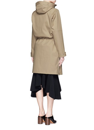 Back View - Click To Enlarge - Givenchy - Side zip cotton-blend drawstring parka