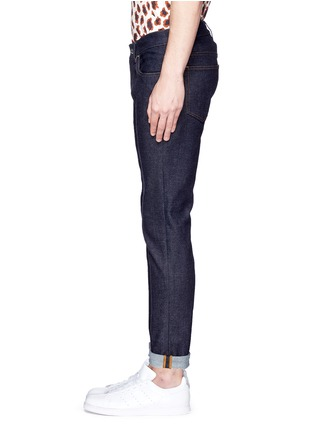 Detail View - Click To Enlarge - Acne Studios - 'Ace Str' raw stretch denim skinny jeans