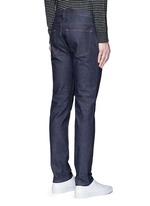 'Ace Str' raw stretch denim skinny jeans