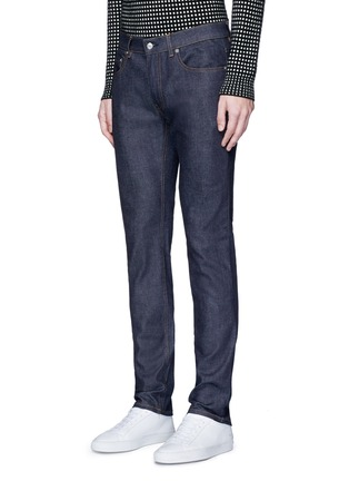 Front View - Click To Enlarge - Acne Studios - 'Ace Str' raw stretch denim skinny jeans
