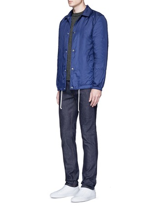 Figure View - Click To Enlarge - Acne Studios - 'Ace Str' raw stretch denim skinny jeans
