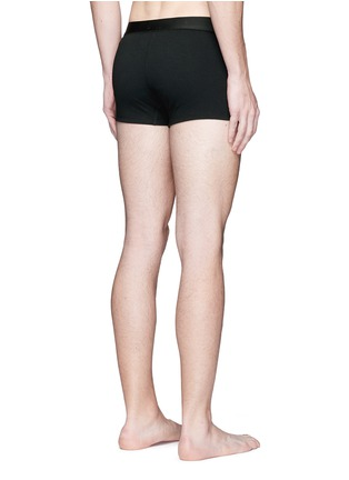 Back View - Click To Enlarge - Dolce & Gabbana - 'Sport Crest' cotton boxer briefs