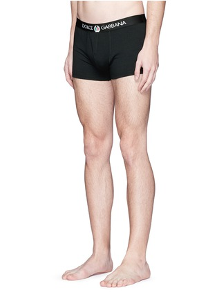 Figure View - Click To Enlarge - Dolce & Gabbana - 'Sport Crest' cotton boxer briefs