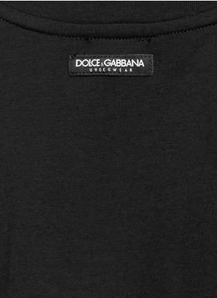 细节 - 点击放大 - DOLCE & GABBANA - 棉质背心两件套