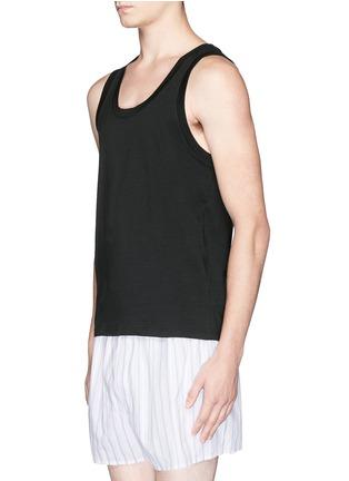 模特儿示范图 - 点击放大 - DOLCE & GABBANA - 棉质背心两件套