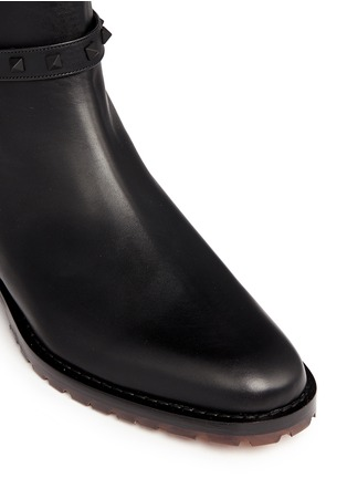 Valentino-'Rockstud' leather Chelsea boots
