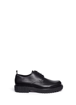 首图 - 点击放大 - VALENTINO - 铆钉鞋底真皮系带鞋