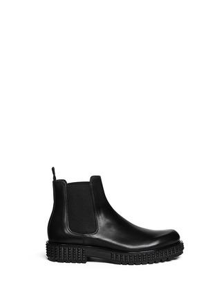 首图 - 点击放大 - VALENTINO - 铆钉鞋跟真皮短靴