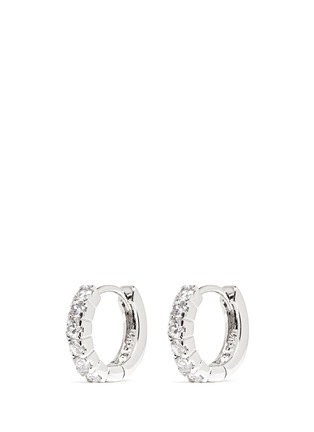 Main View - Click To Enlarge - CZ by Kenneth Jay Lane - Brilliant cut cubic zirconia hoop earrings
