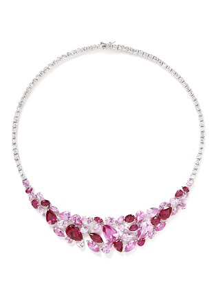 Main View - Click To Enlarge - CZ by Kenneth Jay Lane - Mix cubic zirconia bib necklace