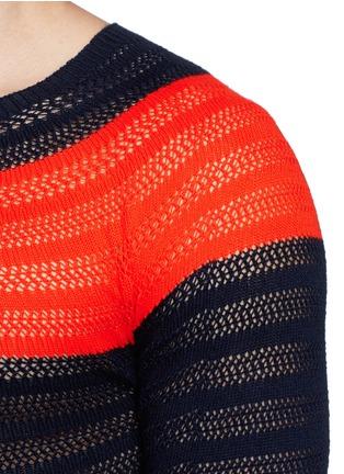 Detail View - Click To Enlarge - Dries Van Noten - 'Naples' colourblock cotton sweater