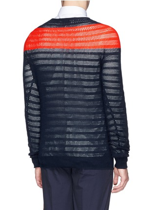 Back View - Click To Enlarge - Dries Van Noten - 'Naples' colourblock cotton sweater