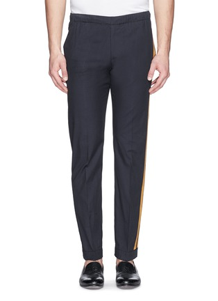 Main View - Click To Enlarge - Dries Van Noten - 'Pacino' grosgrain tuxedo ribbon drawstring pants