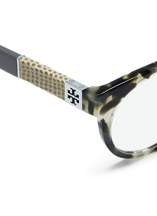 Detail View - Click To Enlarge - Tory Burch - Snakeskin effect temple optical glasses